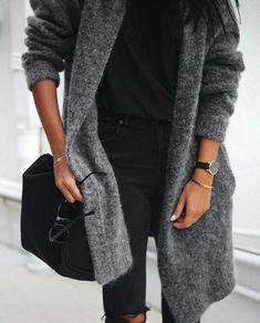 Grey Cardigan   Sweater Weather
