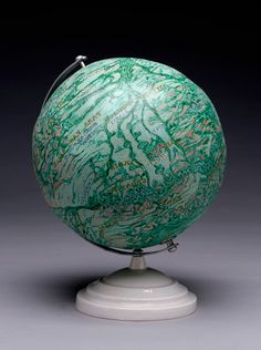 "Knowledge #74: 1561, 1999, acrylic, plaster/cardboard, porcelain, 31"" cir. by Joyce Kozloff"