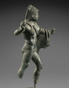 Bronze statuette of Heracles. Side view. Etruscan. First half of 4th century B.C. | Phoenix Ancient Art Gallery