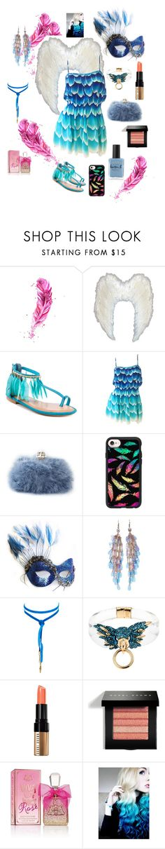 """""""feathered kind"""" by jaydahontherocks ❤ liked on Polyvore featuring 2 Lips Too, Dolce&Gabbana, Casetify, Masquerade, Vanessa Mooney, Alexis Bittar, Bobbi Brown Cosmetics, Juicy Couture and Lauren B. Beauty"""