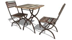Large preview of 3D Model of set table + chaise COLLIOURE, Maisons du monde. Réf: 121716 prix 239€