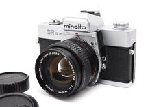 *Brigt Lens* Minolta SR 505 35mm SLR w/ MC ROKKOR-PG 50mm f/1.4 Lens From Japan  #Minolta