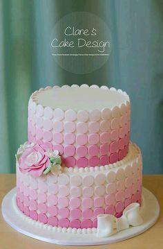 Hermoso pastel rosa degradado