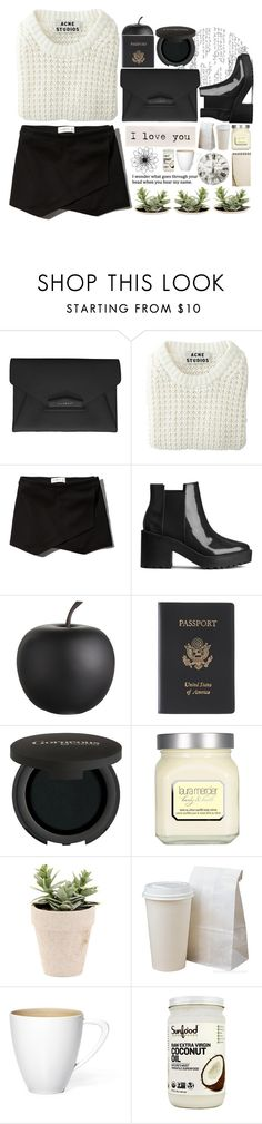 """""""wondering."""" by filidurin ❤ liked on Polyvore featuring Givenchy, Acne Studios, Abercrombie & Fitch, H&M, CB2, Royce Leather, Gorgeous Cosmetics, Laura Mercier and Universal Lighting and Decor"""