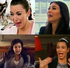 And I thought I was an ugly cryer, Kim Karsashian.