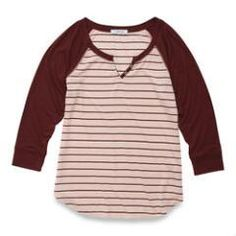 mySTYLE Women's Fitted Henley Shirt