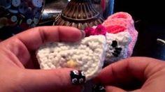 crochet hello kitty applique - YouTube