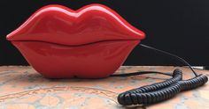 Vintage Pop Art Hot Red Lips Telephone Phone by Fraservalleyjewels