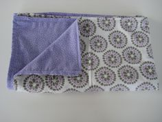 Baby Blanket, Lavender and Gray, Girl Nusery, baby gift, Floral, Purple polka dot Fleece, Special Opening Price, Sale Price. $24.75, via Etsy.