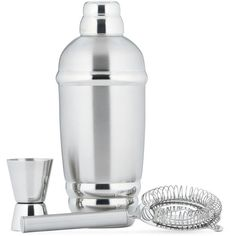 Lenox Barware Tuscany Classics Martini Shaker Set (€37) ❤ liked on Polyvore featuring home, kitchen & dining, bar tools, stainless steel jigger, drink strainer, stainless strainer, stainless steel strainer and lenox