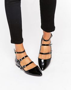 Image 1 of New Look Multi Strap Patent Shoe