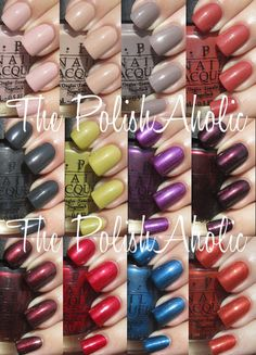 OPI Fall 2012 Germany Collection Swatches!