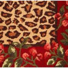 "My ""Savannah"" leopard rug from Ballard's. Leopard Rug, Border Rugs, Tuscan Decorating, Boho Decor, Animal Print Rug, Red Roses, Decor Styles, Holiday Decor, Crafts"