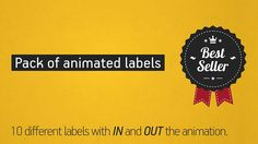 Animated Labels Pack by Dvaleev. Its After Effects Template.