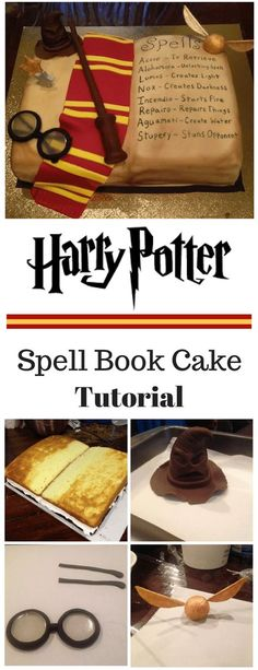 Cake Decorating 385902261811134878 - Harry Potter Inspired Spell Book Cake Tutorial Source by Harry Potter Spell Book, Bolo Harry Potter, Gateau Harry Potter, Harry Potter Birthday Cake, Harry Potter Food, Harry Potter Theme, Harry Potter Cake Decorations, Harry Potter Desserts, Harry Potter Cupcakes