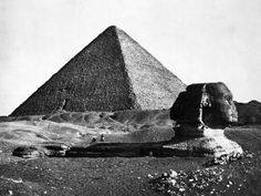 Inch Print - High quality print (other products available) - Great Pyramid of Giza (or Gizeh) and Sphinx, Egypt. Date: 1857 - Image supplied by Mary Evans Prints Online - Photo Print made in the USA Ancient Aliens, Ancient Egypt, Ancient History, Art History, Sphinx Egypt, Giza Egypt, Luxor Egypt, Mystery, Great Pyramid Of Giza