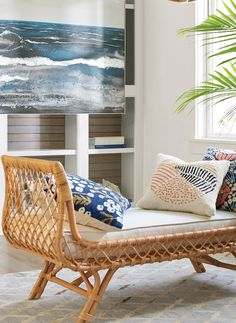 The simplicity of modern casual style is exemplified in the Paloma Bench. It shows you how wonderfully mood-setting modern rattan can be indoors, when envisioned as something new.