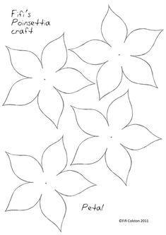 Paper Poinsettia Template Google Search Paper Flowers Craft Paper Flower Template Flower Template