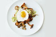 Toast with leeks and mushrooms and fried eggs: http://www.uniqlo.com/us/lifetools/recipe/jamie_recipe01.html