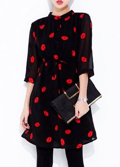 Lip Pattern Dress