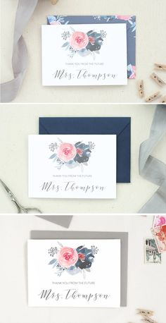 """Still need to check off """"write thank you notes""""? Let these cards help you out after your wedding shower!"""