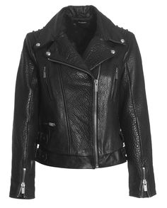The Kooples leather jacket - Leather jackets are always on trend. And they're warm, water-proof and comfortable! The Kooples, Leather Jackets, Style Icons, Menswear, Warm, My Style, Clothes, Tops, Design