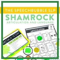 St. Patrick's Day Articulation and Language #slp #schoolslp #speechtherapy #articulation