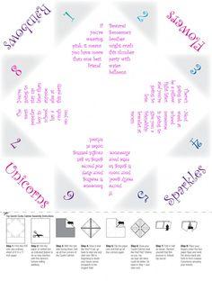 Free printable for little girl slumber parties