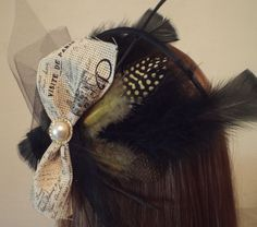 Paristhemed Feathered Fascinator with by TheFascinatingWench, $18.00