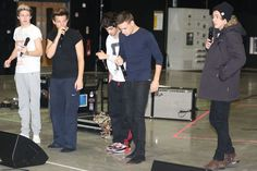 The boys at tour rehearsals. You cold Harry?
