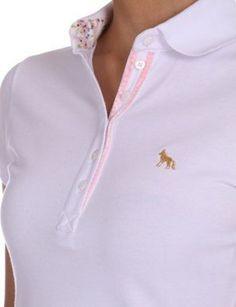 Camiseta Polo Acostamento Bordado  supernatural  polo  shirts  girl 22bb2a230b0f6