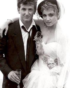 Madonna and Sean wedding photo