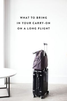14 Items To Bring In Your Carry-On for a Long Flight