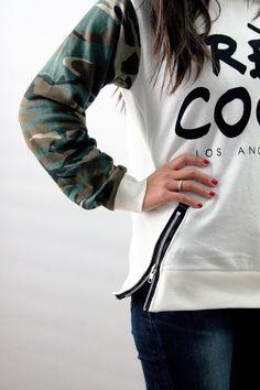 DIY Zipper Sweatshirt, cute sweatshirts