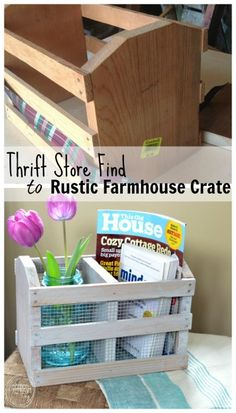 It's amazing what you can create from thrift store finds! This crate looks so…