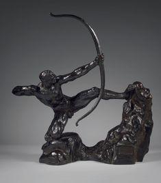 Emile Antoine BOURDELLE (1861 - 1929) Héraklès Archer,huitièmeétude - modèle intermédiaire définitif. Épreuve en bronze patiné, signée, titrée, Alexis Rudier fondeur, Paris H.: 62 cm. Notre épreuve a… - Drouot Estimations - 29/06/2016