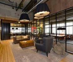 3 Complete Clever Tips: Industrial Office Entrance industrial design ceiling.Industrial Windows And Doors industrial restaurant creative. Industrial Office Space, Rustic Office, Industrial House, Industrial Interiors, Rustic Industrial, Industrial Furniture, Design Industrial, Industrial Closet, Industrial Windows
