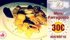 Menù Ferragosto Al Ristorante Pizzeria Atleti http://affariok.blogspot.it/