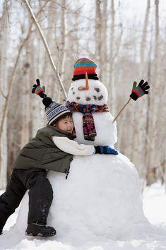 Snow Much Fun, Snow Fun, Winter Fun, Winter Theme, Christmas Snowman, Kids Christmas, Snowman Photos, Snow Pictures, Frosty The Snowmen