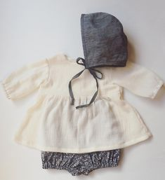 "S A N N A on Instagram: ""Perfect shirt to go with everything. In a perfect weight premium cotton gauze. Just lovely paired with The ""Tricia"" bloomer and grey linen bonnet. """