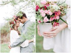 www.vanillaphotography.co.za - Styled engagement shoot, flower crown, flower, couple