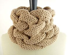 PDF Knitting PATTERN: Loose Braids Cowl / Snood / Infinity Scarf with Cables / Cabled Neckwarmer / Knitted Snood / Unisex Knit