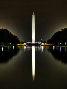 Washington Monument reflection