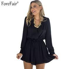 ForeFair Sexy V-neck Chiffon Bodysuit - combinaison Plus Size Romper, Plus Size Dresses, Rompers Women, Jumpsuits For Women, Casual Chic, Cute Fashion, Plus Fashion, Chiffon, Plus Clothing