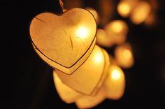 35 LED Romantic White Heart Paper Lantern String Lights