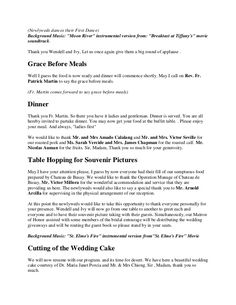 ding Reception Program Emcee Script We found out from our website statistics that many are searching for wedding reception programmes so we are putting this up… Master Of Ceremonies Wedding, Wedding Reception, Dove Release, Dance Background, Matron Of Honour, Unity Candle, Best Day Ever, First Dance, Newlyweds