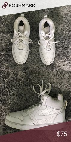 513a6489cf0 White Nike Recreation Mid All white New and clean Nike high tops Nike Shoes  Sneakers
