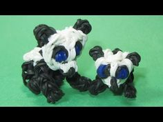 Rainbow Loom Charms: BABY PANDA: How To Tutorial / Design (DIY Mommy) - YouTube