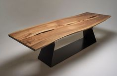 Stunning Live Edge Walnut Dining Table by WickedBoxcar on Etsy