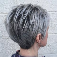 Long Silver Pixie Hairstyle